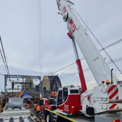 Rail service crane on the Sydney Harbour Bridge
